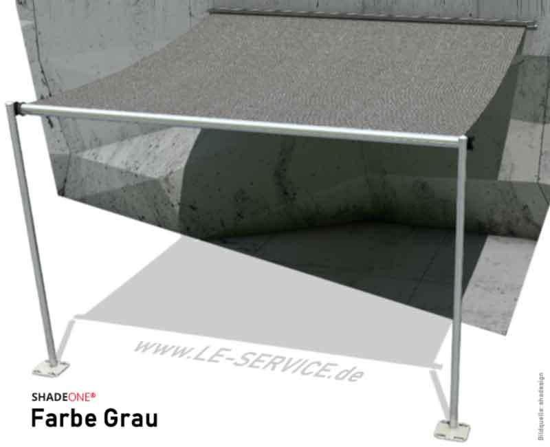 SHADEONE® INOX Sonnensegel mit Säulen aus Edelstahl - Twister-Segel - Bild: shadeone-grau.jpg