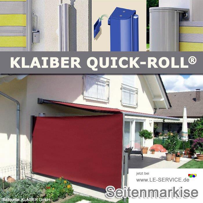 Abbildung:  KLAIBER Quick-Roll SR5000 Seitenbeschattung