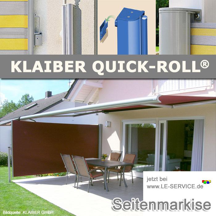 Abbildung:  KLAIBER Quick-Roll Flex SR6000 flexible Seitenbeschattung