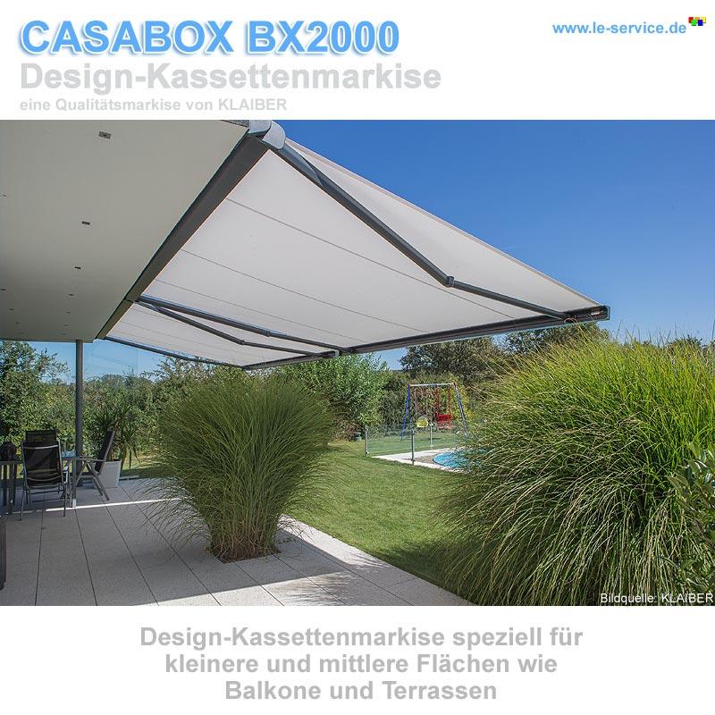 Abbildung:  KLAIBER CASABOX BX2000 Kassettenmarkise - modernes Design