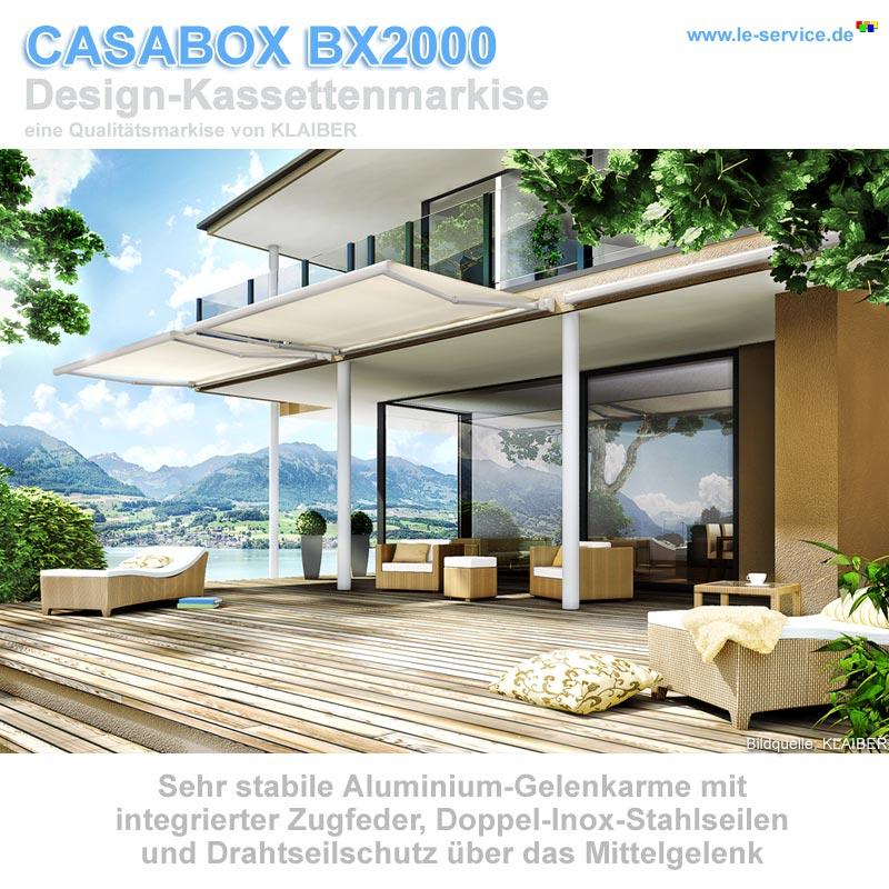 Abbildung 1 für KLAIBER CASABOX BX2000 Kassettenmarkise - modernes Design