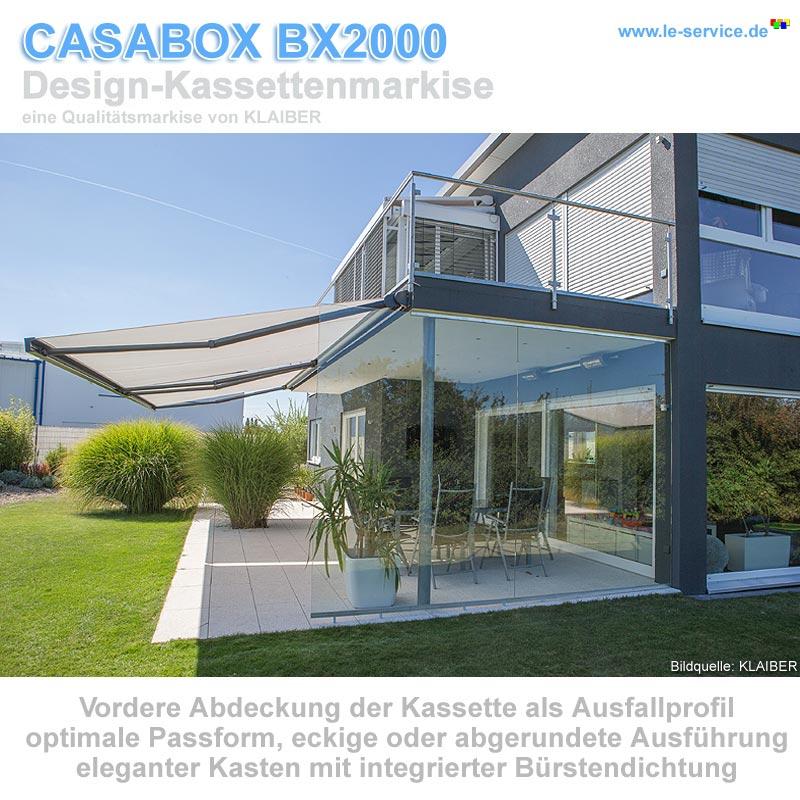 Abbildung 2 für KLAIBER CASABOX BX2000 Kassettenmarkise - modernes Design