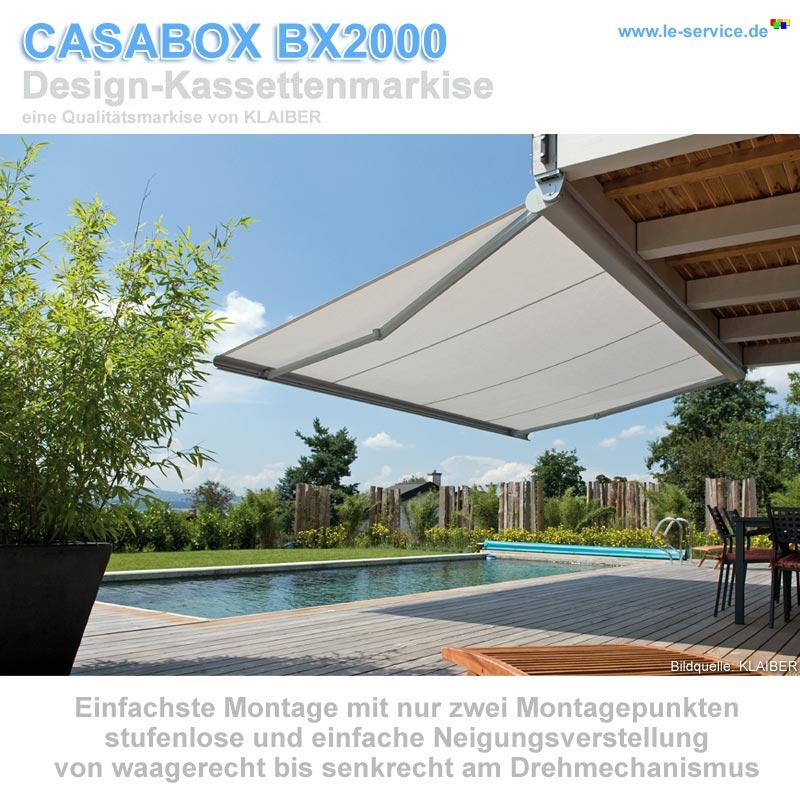 Abbildung 3 für KLAIBER CASABOX BX2000 Kassettenmarkise - modernes Design