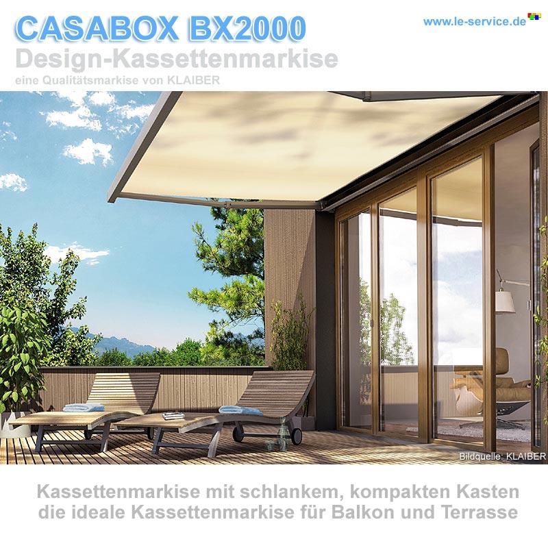 Abbildung 4 für KLAIBER CASABOX BX2000 Kassettenmarkise - modernes Design