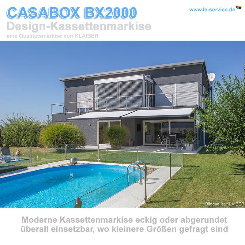 Abbildung 5 für KLAIBER CASABOX BX2000 Kassettenmarkise - modernes Design