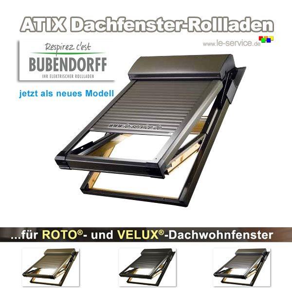 Abbildung:  Bubendorff Dachfensterrollladen für VELUX® - ATIX® neues Modell
