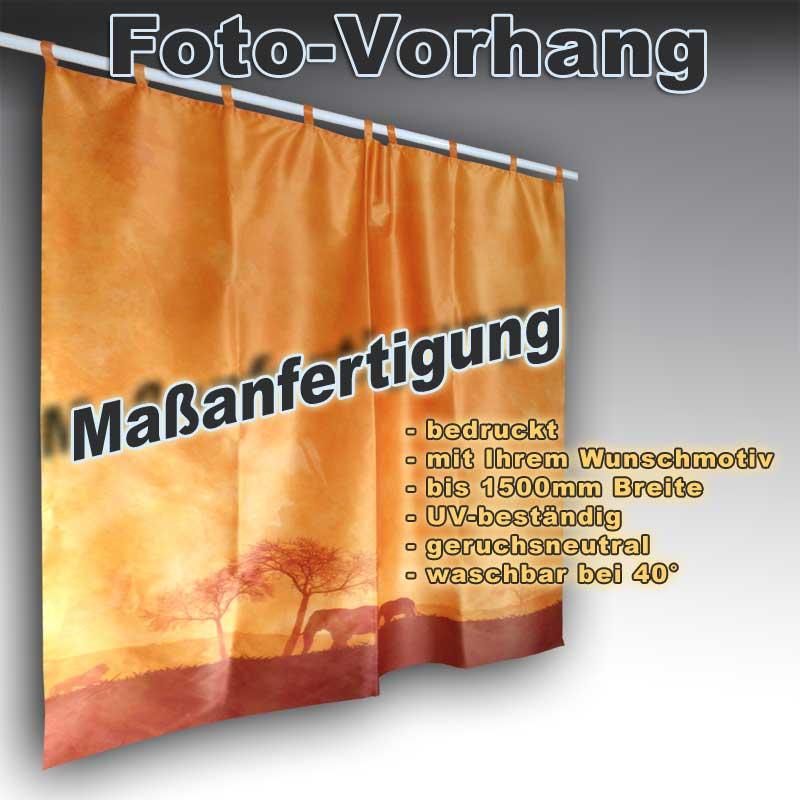 Foto-Vorhang mit Schlaufen bedruckt mit Wunschmotiv - Fotodruck