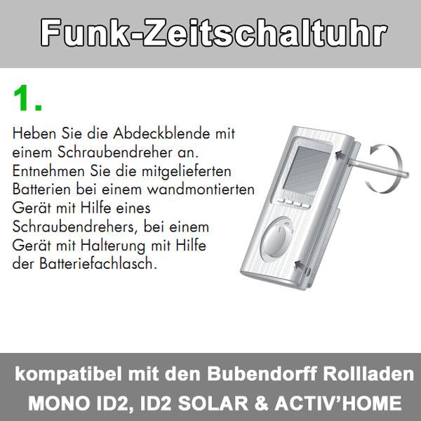 Zusatz-Bild 2  Funkzeitschaltuhr bis zu 30 Bubendorff-Rollladen in 4 Gruppen
