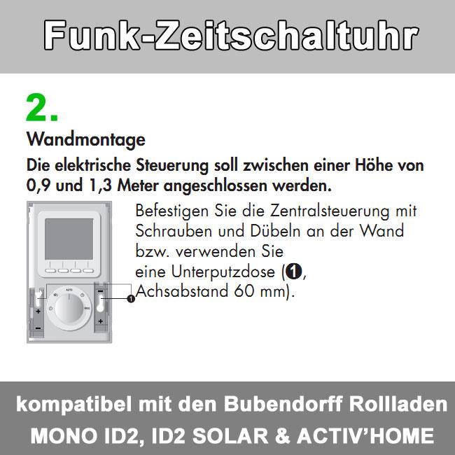 Zusatz-Bild 3  Funkzeitschaltuhr bis zu 30 Bubendorff-Rollladen in 4 Gruppen