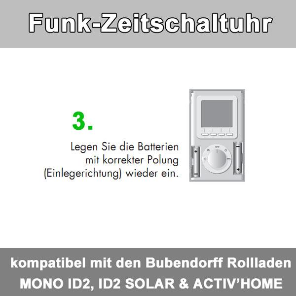 Zusatz-Bild 4  Funkzeitschaltuhr bis zu 30 Bubendorff-Rollladen in 4 Gruppen