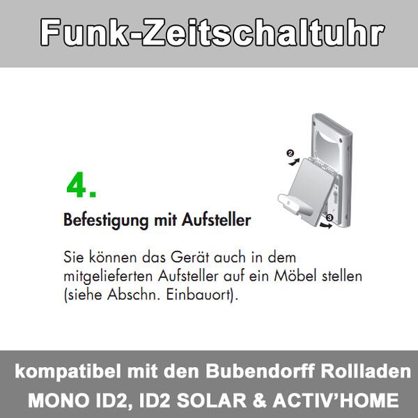 Zusatz-Bild 5  Funkzeitschaltuhr bis zu 30 Bubendorff-Rollladen in 4 Gruppen