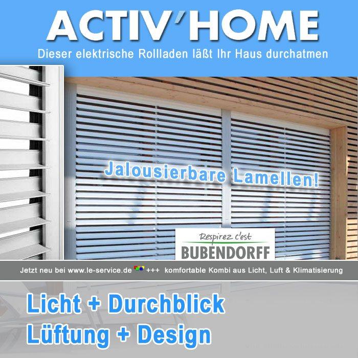 Abbildung:  Bubendorff jalousierbarer Rollladen Activ Home® Sonnenschutz + Belüftung