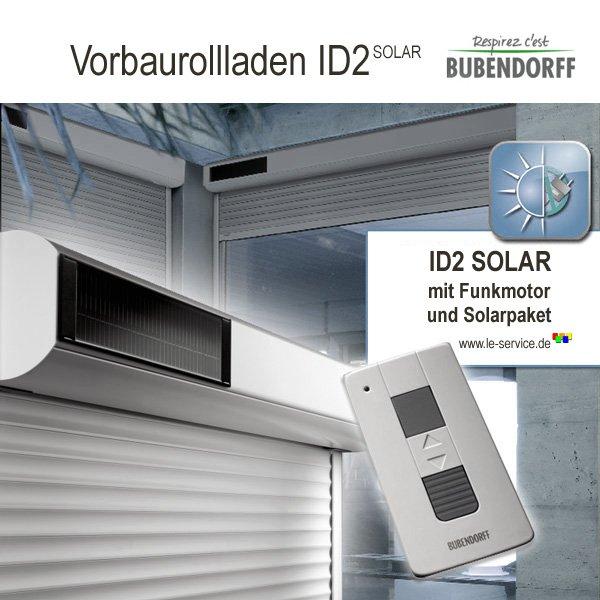 Abbildung 1 für Solarrollladen Bubendorff ID2 SOLAR Vorbaurollladen Funk Kasten 2x20