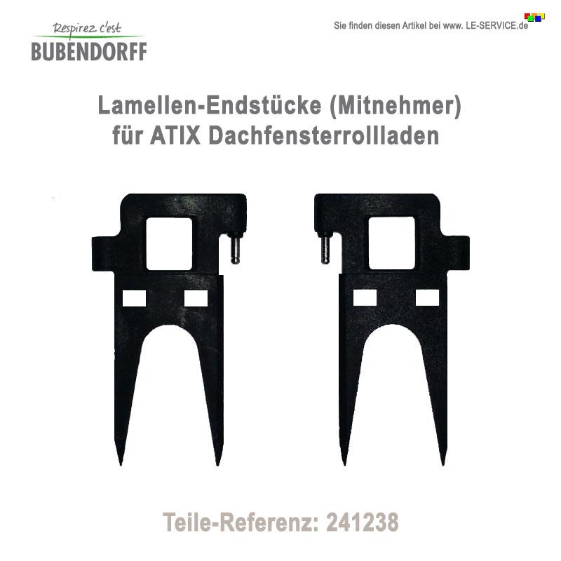 50 Lamellen-Endstücke Bubendorff ATIX Rollladen - Ref 241238
