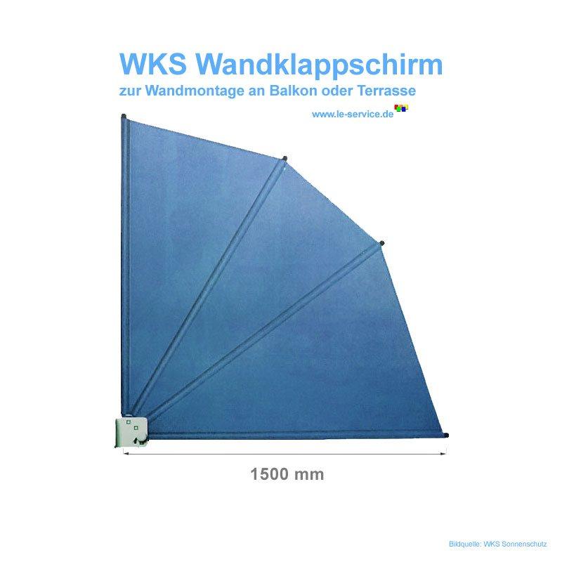 Abbildung 2 für WKS Wandklappschirm 1500 mm (1,5 x 1,5 m)
