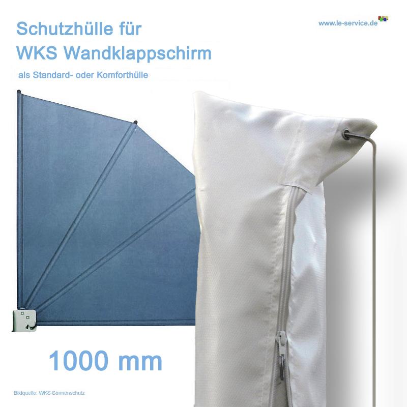 Schutzhülle für WKS-Wandklappschirm 1000 mm - Grau, Weiss oder Beige