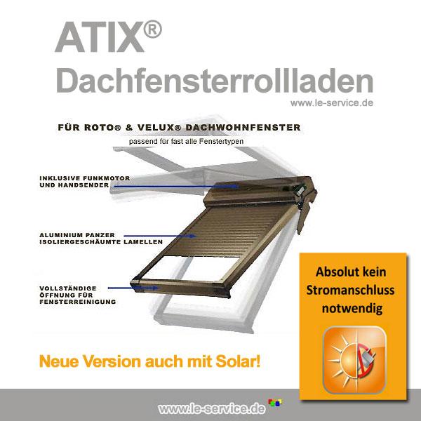 Abbildung 5 für Dachfensterrollladen ATIX® SOLAR für VELUX® Dachfenster inkl. Solarpaket