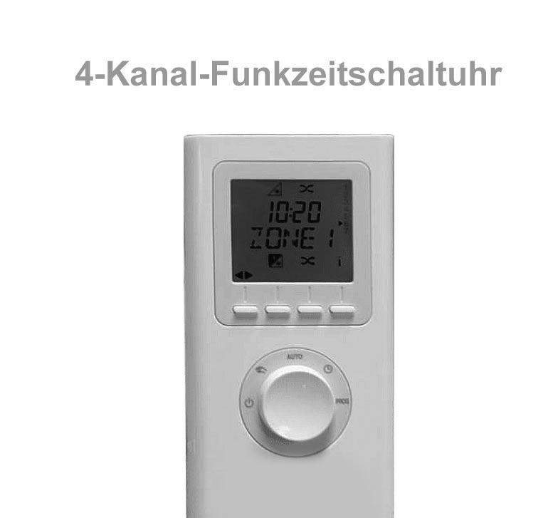 Funkzeitschaltuhr bis zu 30 Kompakt-Rollladen in max 4 Gruppen
