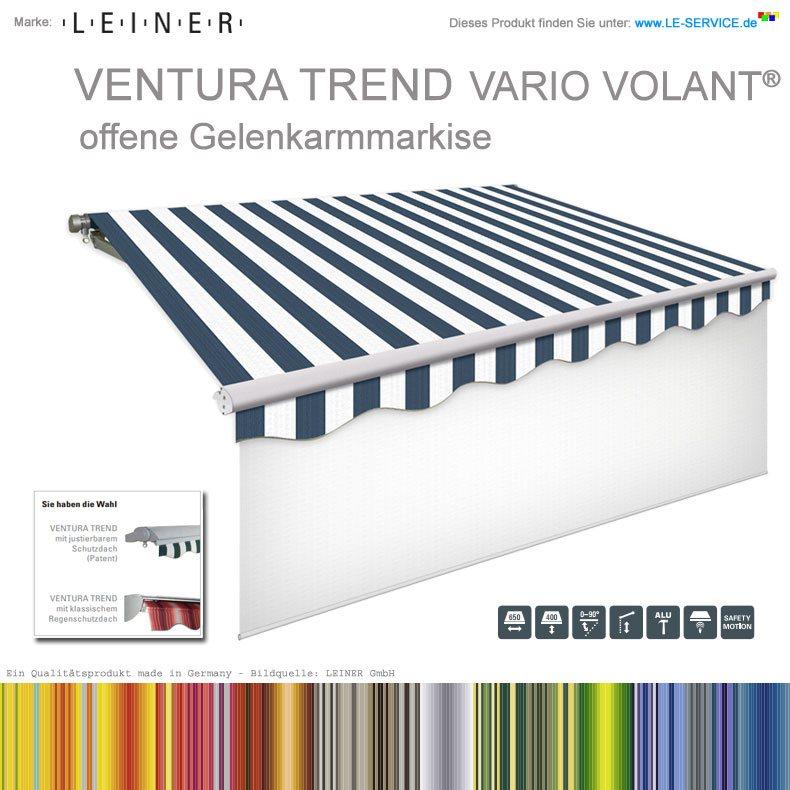 LEINER VENTURA TREND VARIO VOLANT® - Markise mit ausfahrbarem Volant