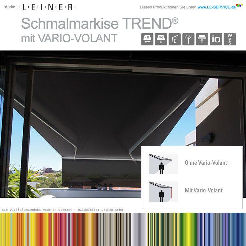 Leiner Schmalmarkise Trend Vario Volant Mit Ausfahrbarem