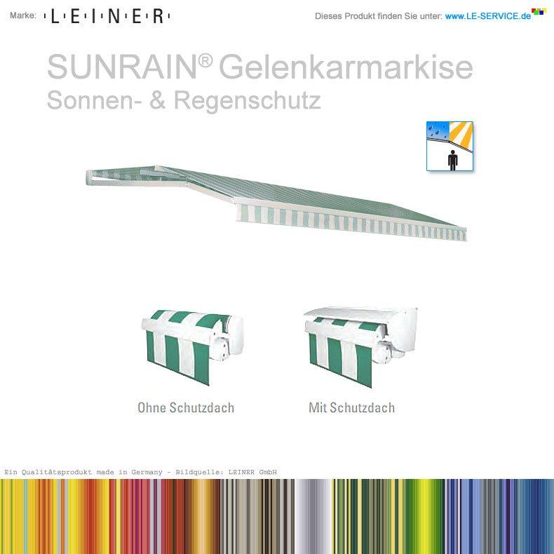 LEINER SUNRAIN® - Gelenkarmmarkise zum Schutz vor Sonne & Regen