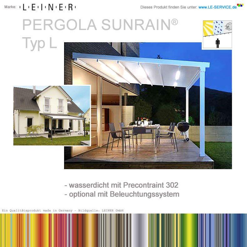 Abbildung:  LEINER PERGOLA SUNRAIN L® - Terrassenfaltdach - Sonne & Regen