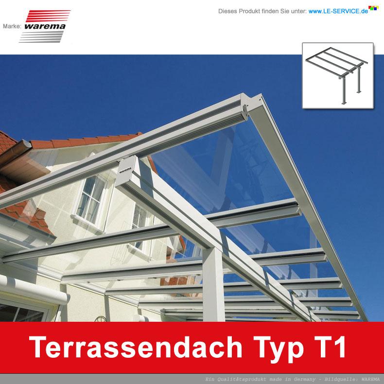WAREMA Terrassendach T1 Aluminium - Beschattung optional