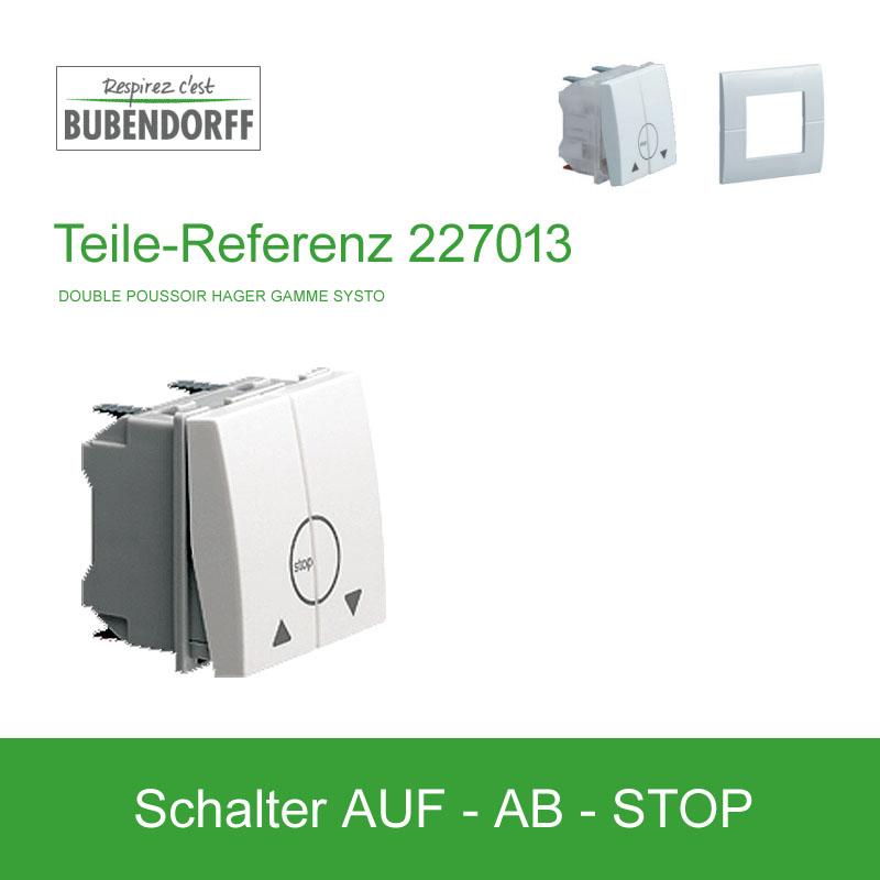 Abbildung:  Auf-Ab Schalter Bubendorff ROLAX Wintergartenrollladen - Ref 227013