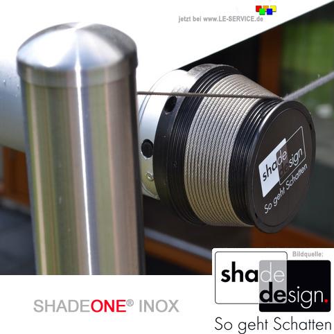 Abbildung 1 für SHADEONE® INOX Sonnensegel mit Säulen aus Edelstahl - Twister-Segel