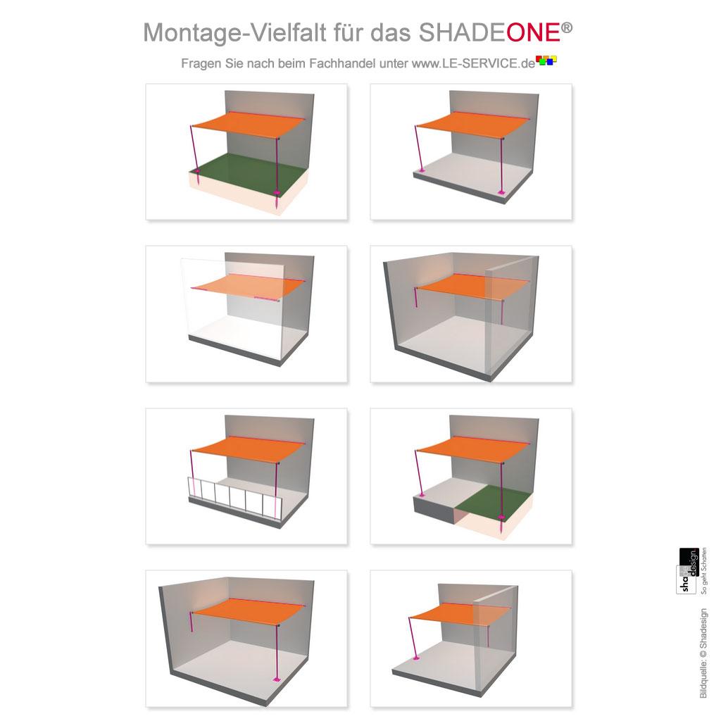 Abbildung 3 für SHADEONE® INOX Sonnensegel mit Säulen aus Edelstahl - Twister-Segel
