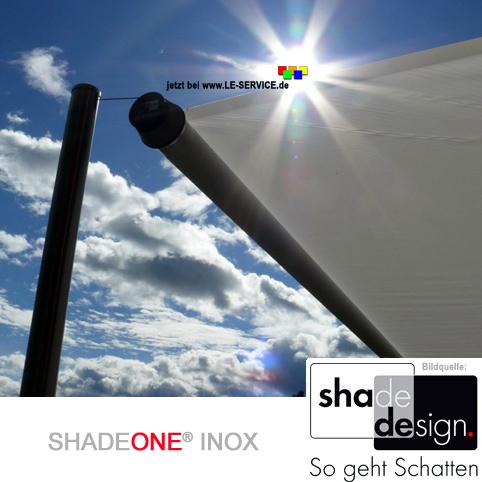Abbildung 4 für SHADEONE® INOX Sonnensegel mit Säulen aus Edelstahl - Twister-Segel