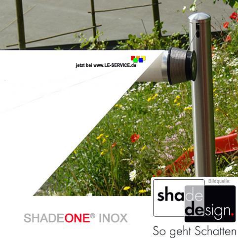 Abbildung 5 für SHADEONE® INOX Sonnensegel mit Säulen aus Edelstahl - Twister-Segel