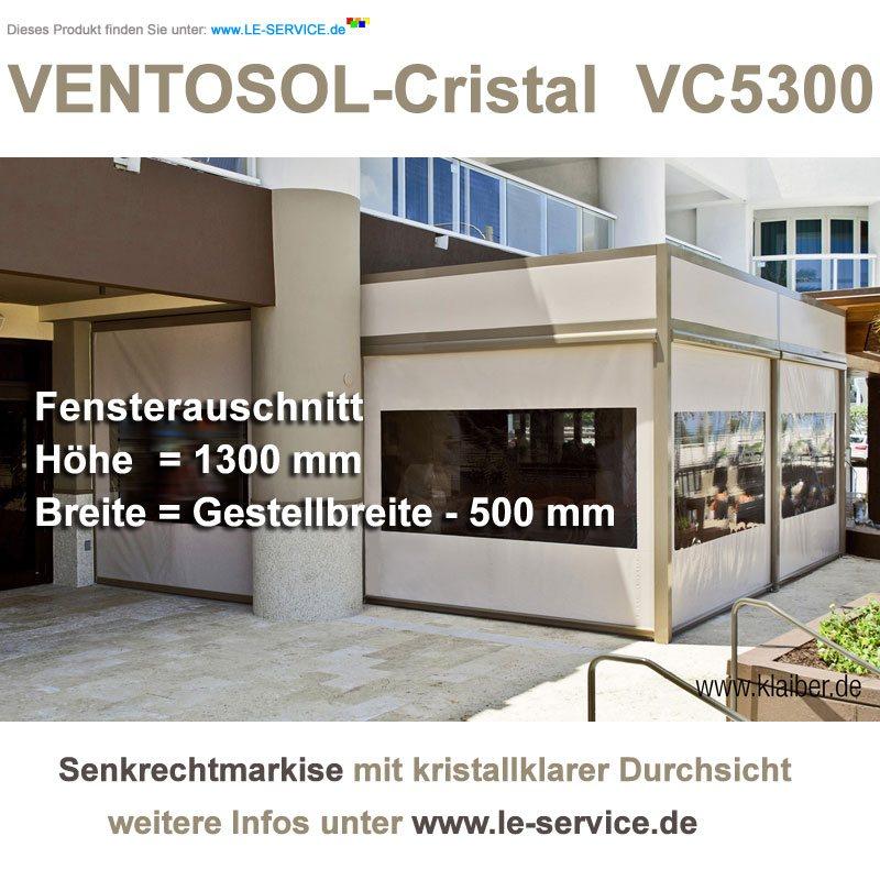 Abbildung:  KLAIBER VENTOSOL CRISTAL VC5300 Senkrechtmarkise mit Sichtfenster