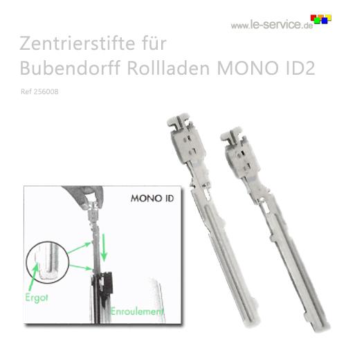 1 Paar Zentrierstifte Bubendorff MONO ID2 Rollladen - Ref 256008