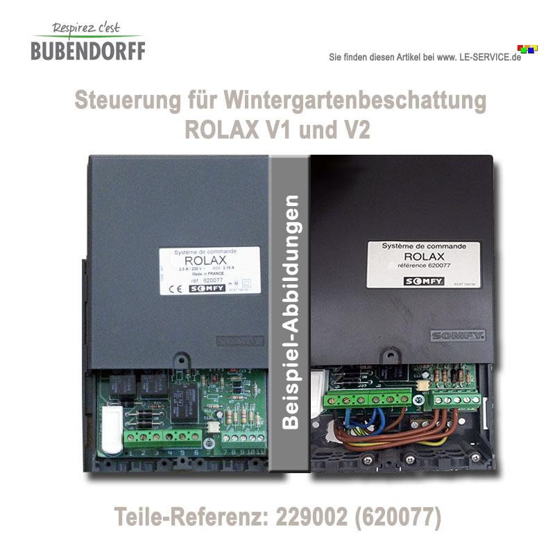 Steuerung Wintergartenrollladen ROLAX V1 und V2 - Ref 229002