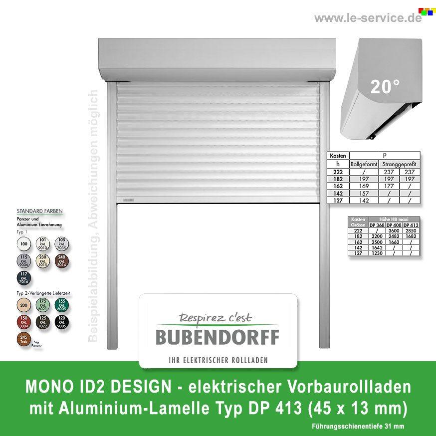 Abbildung:  Vorbaurollladen MONO ID2 DESIGN Lamelle DP 413 Bubendorff