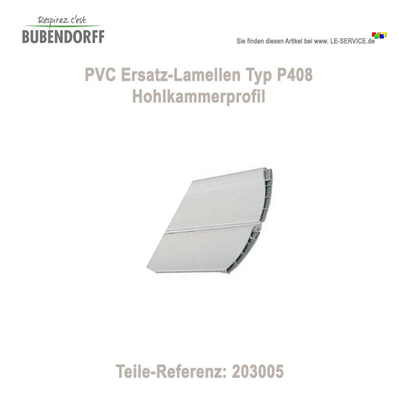7 Stk Ersatzlamellen PVC P408 für Bubendorff Rollladen - Ref 203005