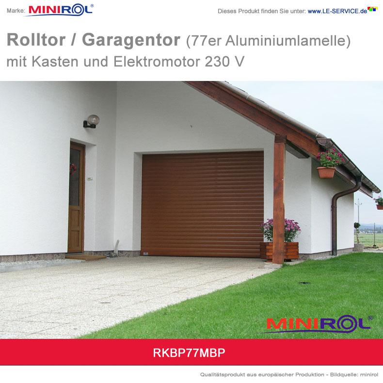Abbildung 3 für Rolltor und Garagentor BP 77 Aluminium mit Kasten und Elektromotor 230 V