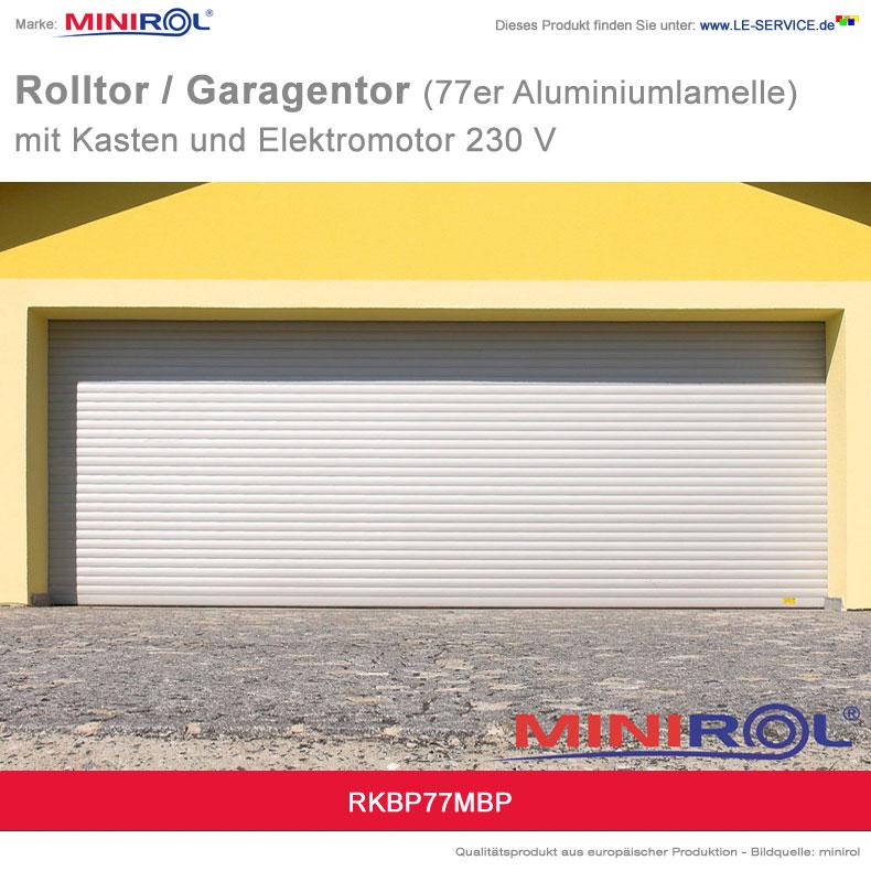 Abbildung 4 für Rolltor und Garagentor BP 77 Aluminium mit Kasten und Elektromotor 230 V