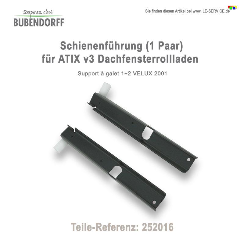 Abbildung:  1 Paar Schienenführung für ATIX Dachfensterrollladen - Ref 252016