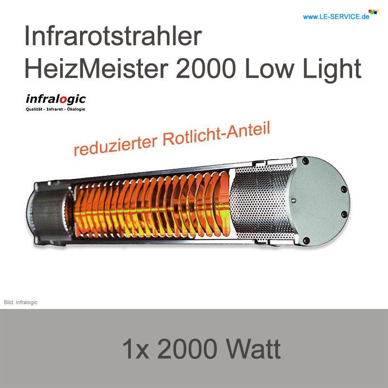 Infrarotstrahler 2000 Watt infralogic HeizMeister 2000 Low Light