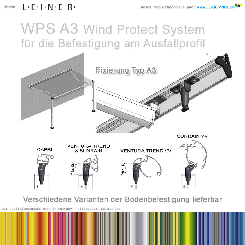 Leiner Wps A3 Wind Protect System St Tzensystem F R
