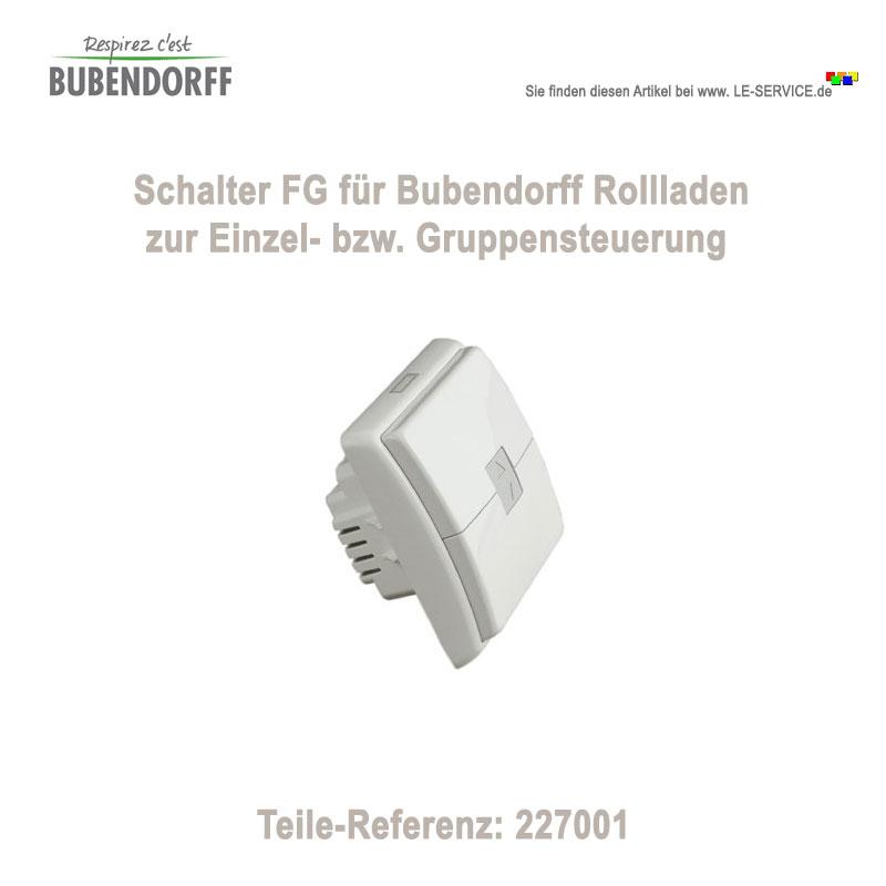 Bubendorff Schalter Zentralschalter FG kabelgebunden - Ref 227001