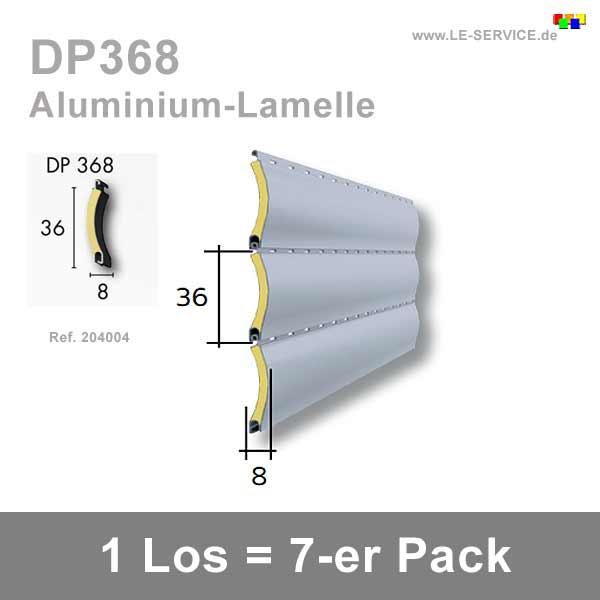 7 Stk Ersatz-Lamellen Aluminium DP368 für Bubendorff ID Rollladen