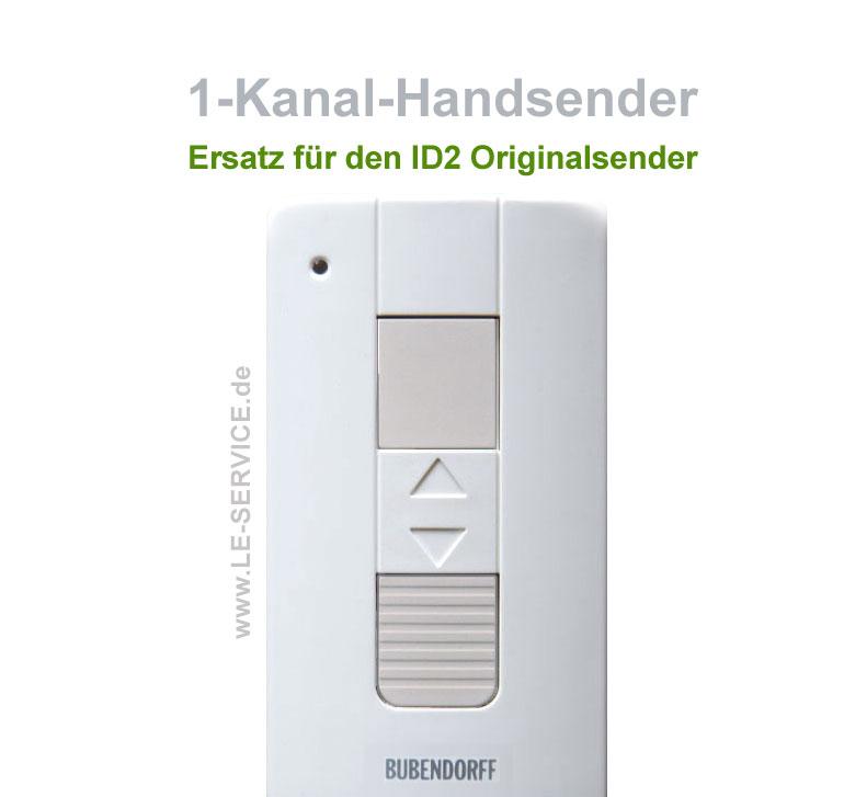 Abbildung:  Original Handsender Ersatz für Bubendorff ID2 Rollladen ab 2010