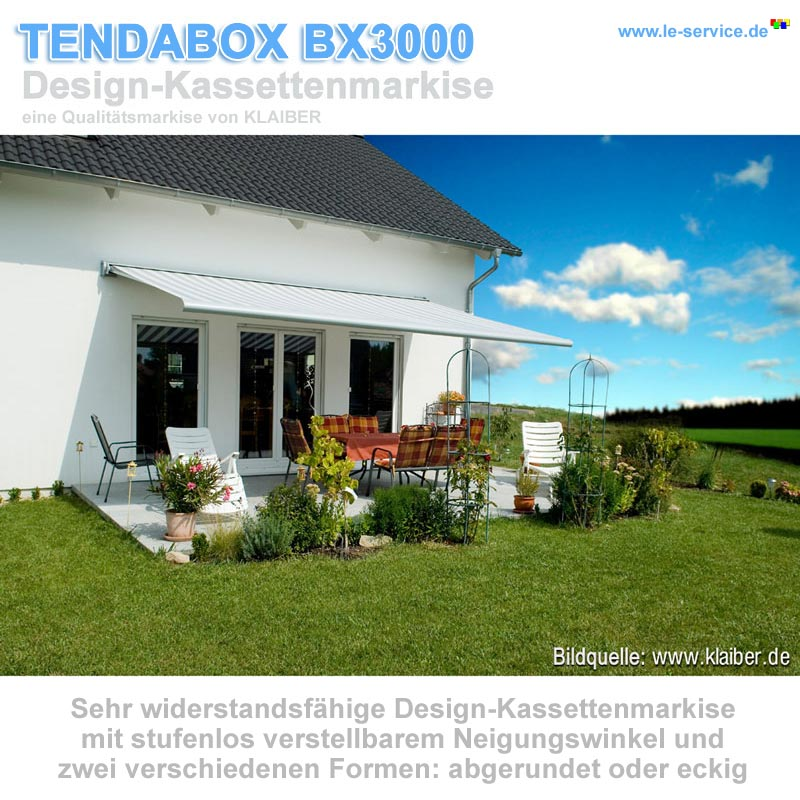 Design Kassettenmarkise Tendabox Bx3000