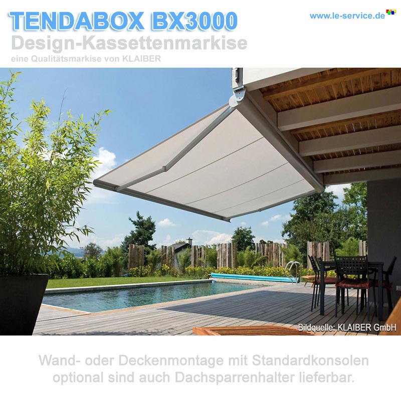 Abbildung 3 für KLAIBER TENDABOX BX3000 Design-Kassettenmarkise mit Elektroantrieb