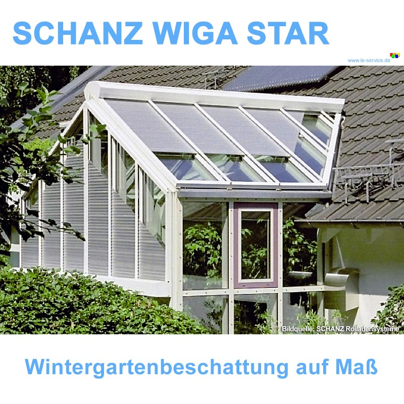 Abbildung:  SCHANZ Wintergarten-Rollladen Wiga Star