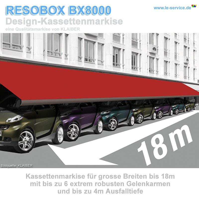 Klaiber Resobox Bx8000 Kassettenmarkise F R Extreme Breite