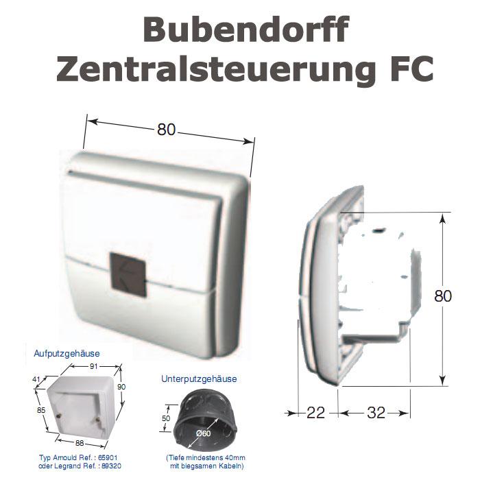 Zentralschalter Zentralsteuerung Bubendorff FC Ref 227002